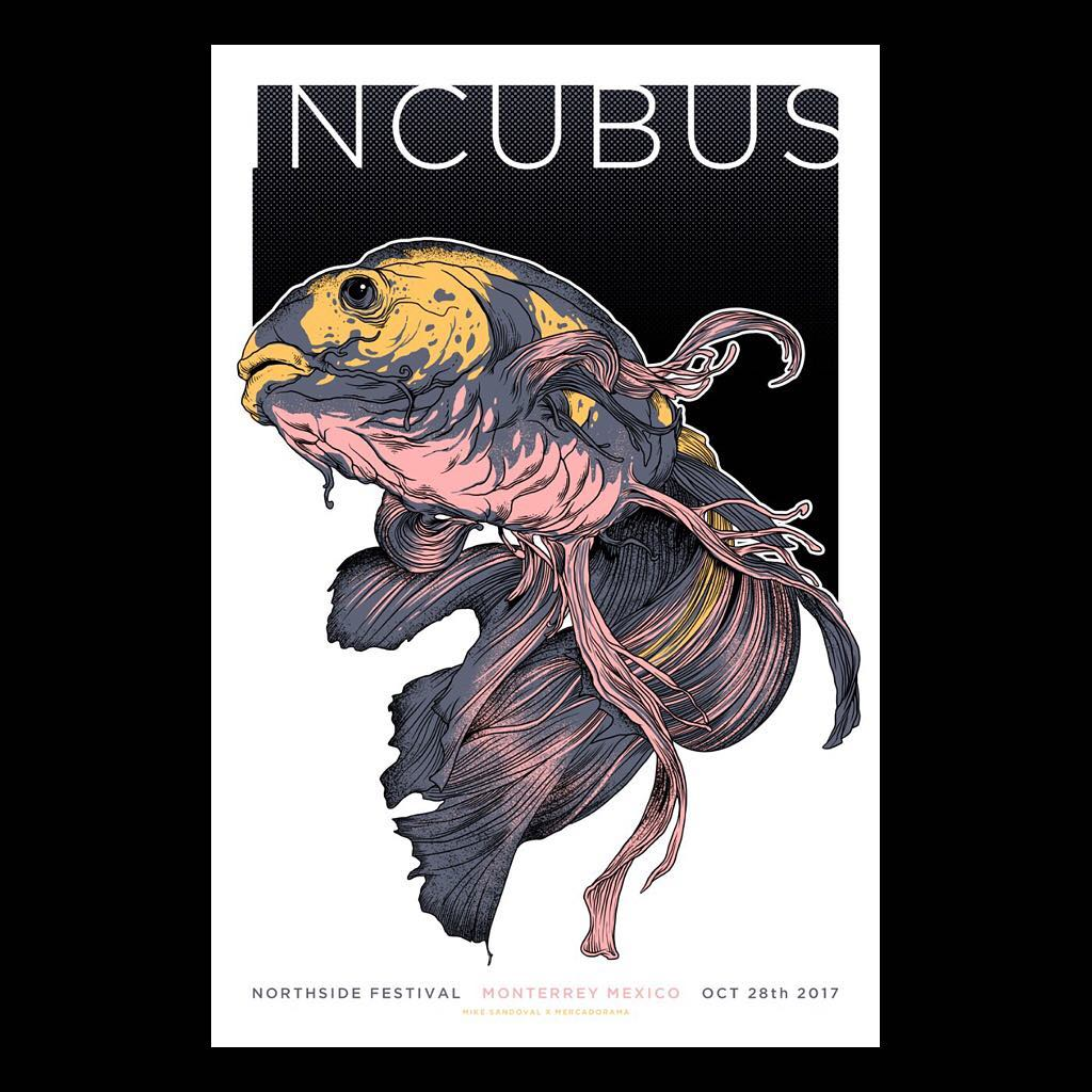 Incubus Monterrey 2017 Mike Sandoval Gig Poster