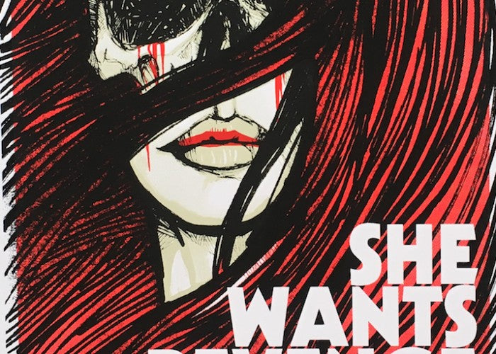 She Wants Revenge Mexico 2016 Kraken Gig Poster
