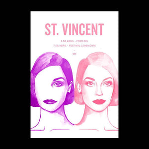 St. Vincent Mexico 2018 Monica Loya Gig Poster