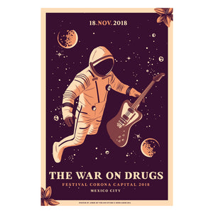 The War on Drugs Mexico 2018 Amor de Verano Gig Poster