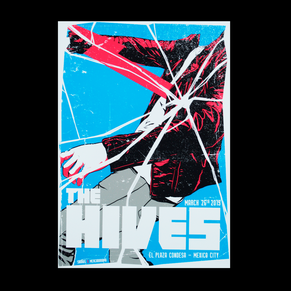 The Hives Mexico 26 Marzo 2019 Snake Heads Gig Poster