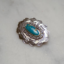 "Load image into Gallery viewer, Fred Harvey Era ""Navajo"" Handmade Concho Pin"