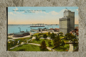 Vintage Post Card - Battery Park
