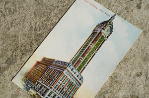 Vintage Post Card - Singer Building, New York