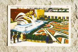 Vintage Post Card - Rockefeller Plaza