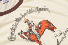 Load image into Gallery viewer, SPORT SPECIALITIES - Back In The Saddle Again Movie Print Tee Shirt