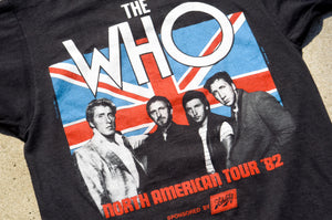 Unknown Brand - The WHO 1982 North America Tour Tee Shirt