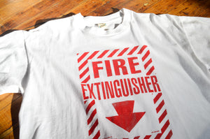 SCREEN STARS - Fire Extinguisher  Joke Tee shirt