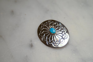 "Fred Harvey Era ""Navajo"" Handmade Concho Pin"