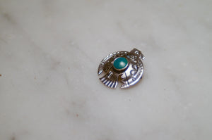 "Fred Harvey Era ""Navajo"" Handmade Thunderbird  Pin"
