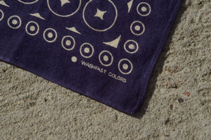 Washfast - Circle & Dot Cotton Bandana