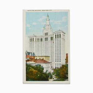 Vintage Post Card - Manhattan Municipal Building