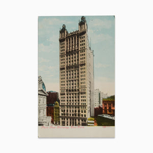 Vintage Post Card - Park Row Building