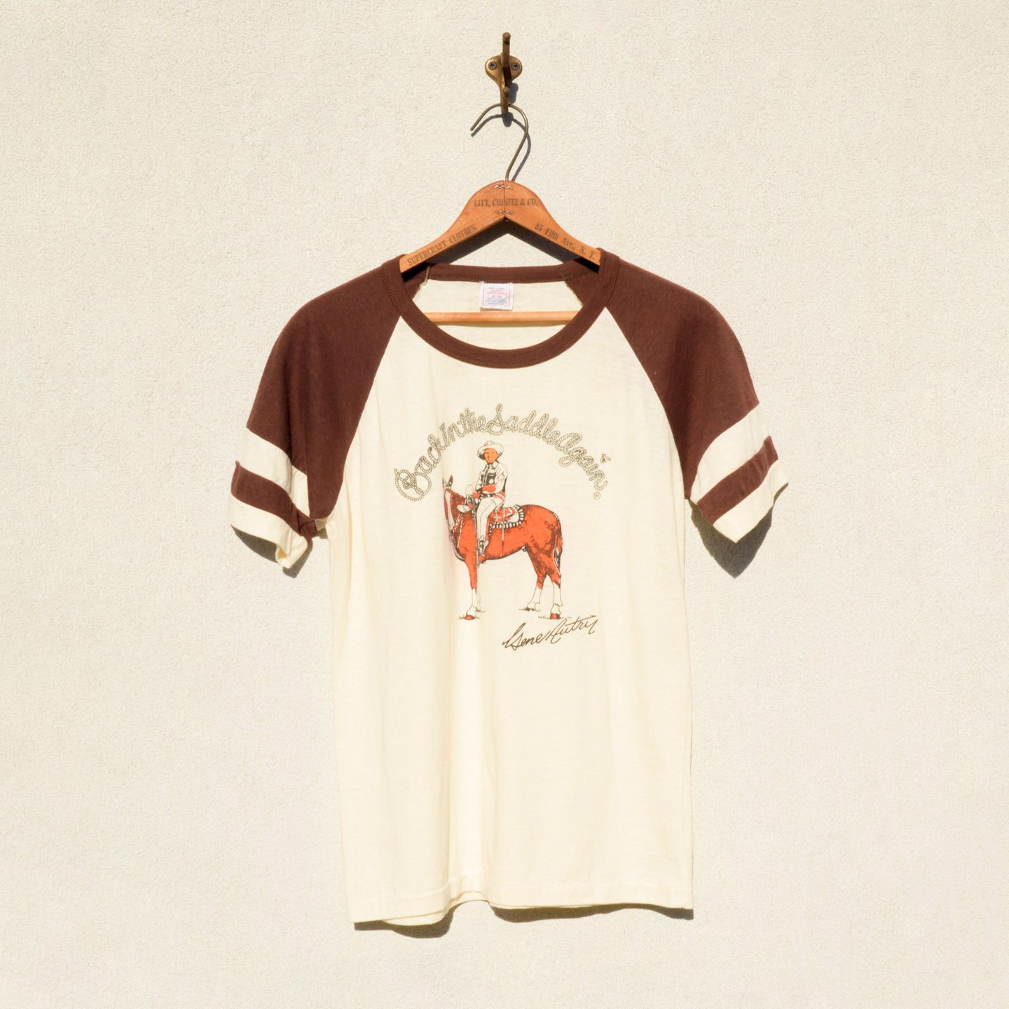 SPORT SPECIALITIES - Back In The Saddle Again Movie Print Tee Shirt
