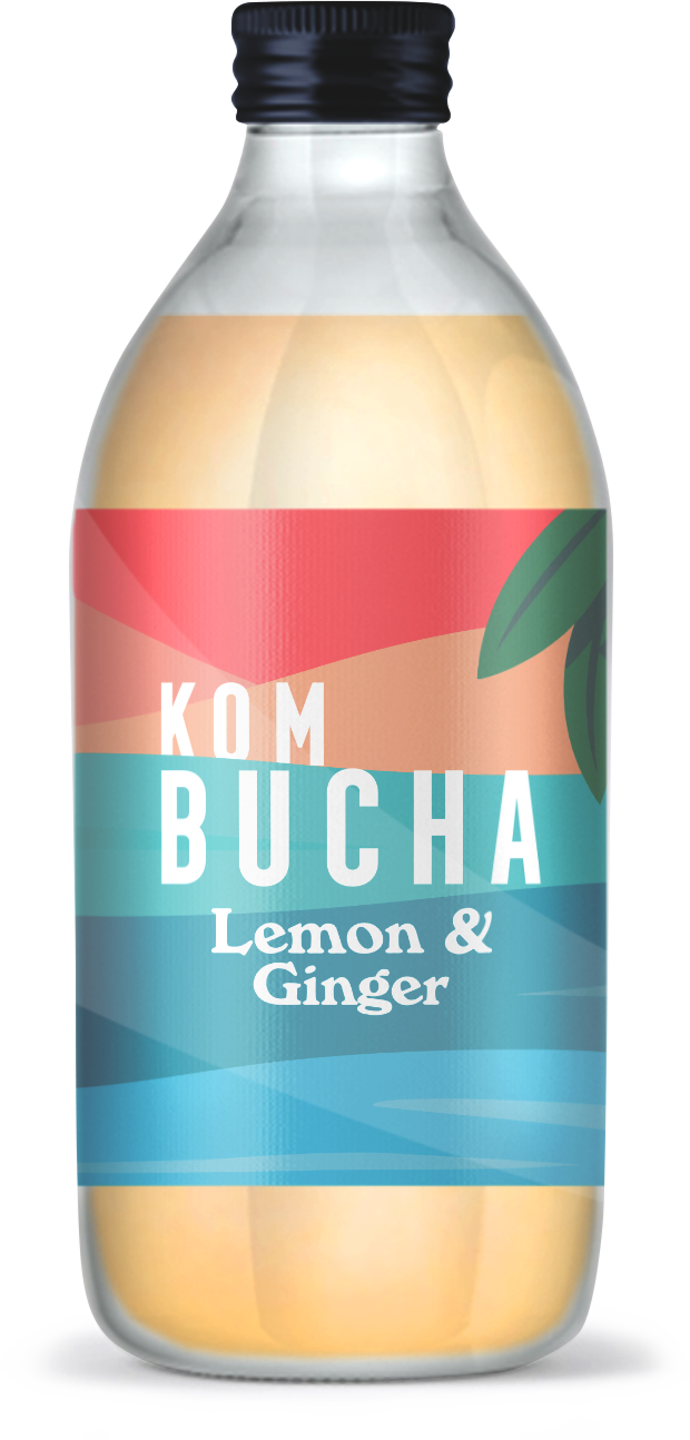 Kombucha Lemon & Ginger (6 x 330ml)