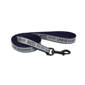 Happy Trails Reflective Dog Leash - L/XL