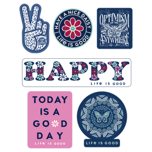 Happy Pack Six-Pack Stickers