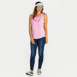 Women's Smile Palm High-Low Crusher Tank