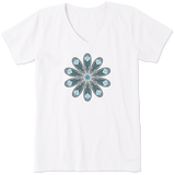 Women's Daisy Mandala Crusher Vee