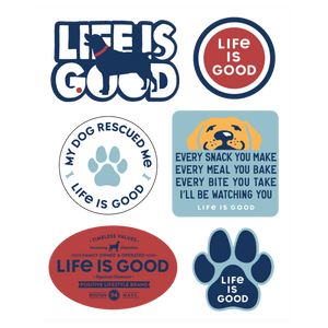 Dog Pack Six-Pack Stickers