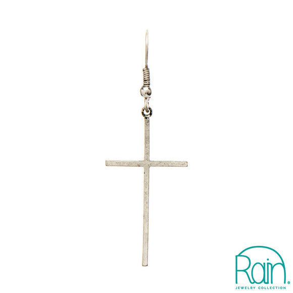 Narrow Cross Earrings