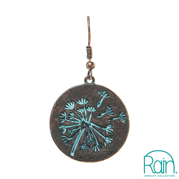 Dandelion Etched Earrings