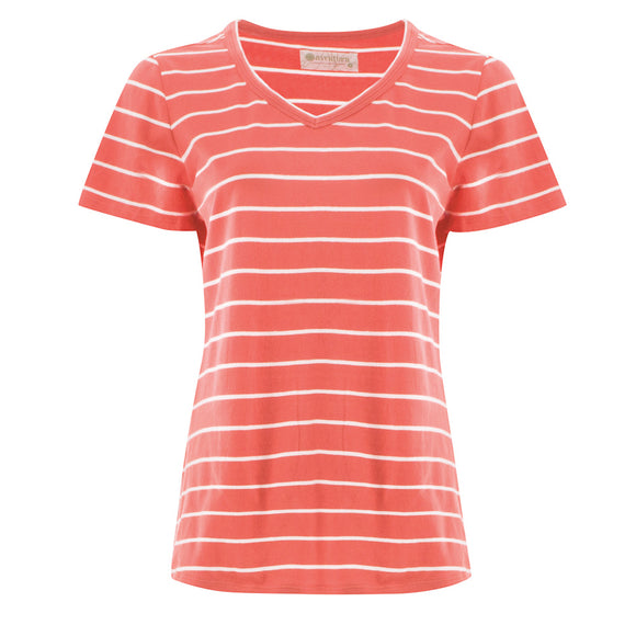 Basis Stripe Sweetheart Top