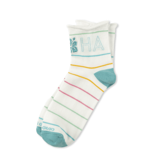 Women's Aloha Rolled Anklet Socks