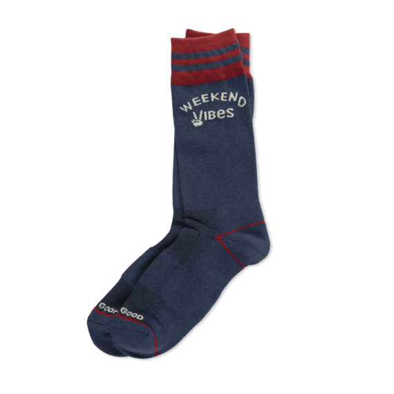 Men's Weekend Vibes Cushioned Crew Socks