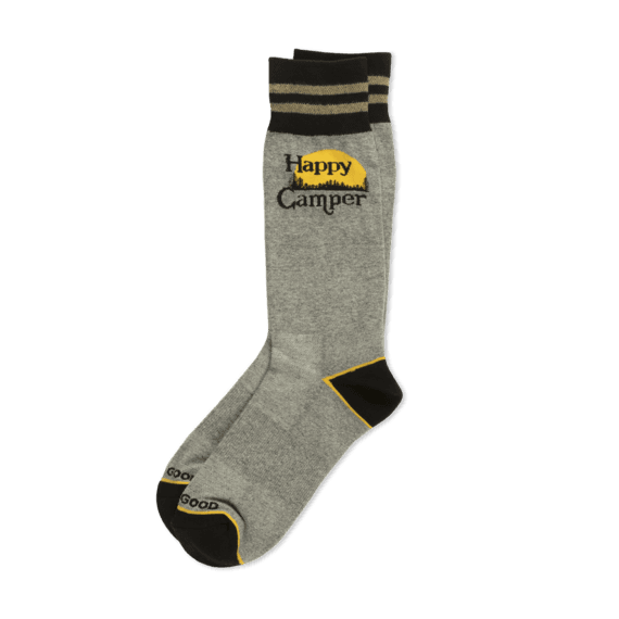 Men's Happy Camper Cushioned Crew Socks