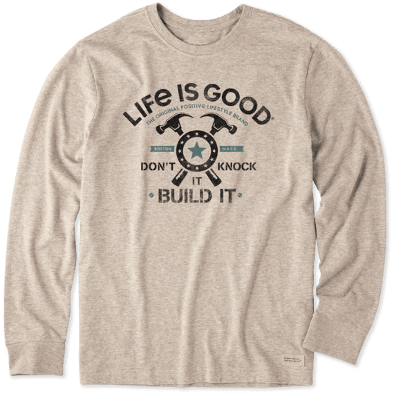 Men's Build It Long Sleeve Crusher Tee