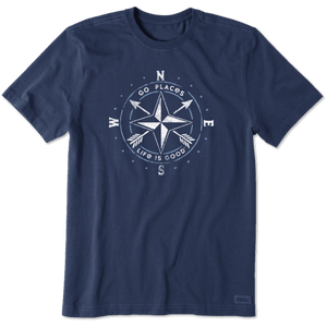 Men's Go Place Compass Crusher Tee