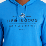 Men's Positive Lifestyle Compass Long Sleeve Hooded Crusher