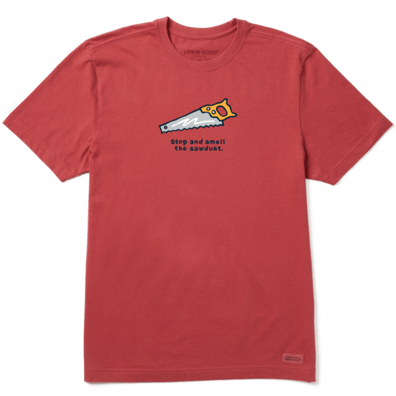 Men's Stop and Smell the Sawdust Vintage Crusher Tee