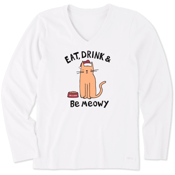 Women's Be Meowy Long Sleeve Crusher Tee