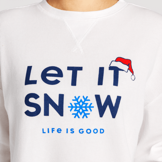Women's Let it Snowflake Thermal Long Sleeve Sleep Tee
