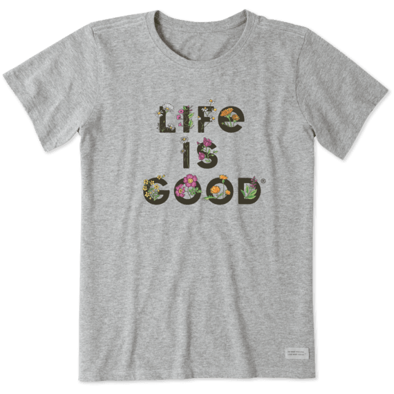 Women's Life is Gardening Crusher Tee