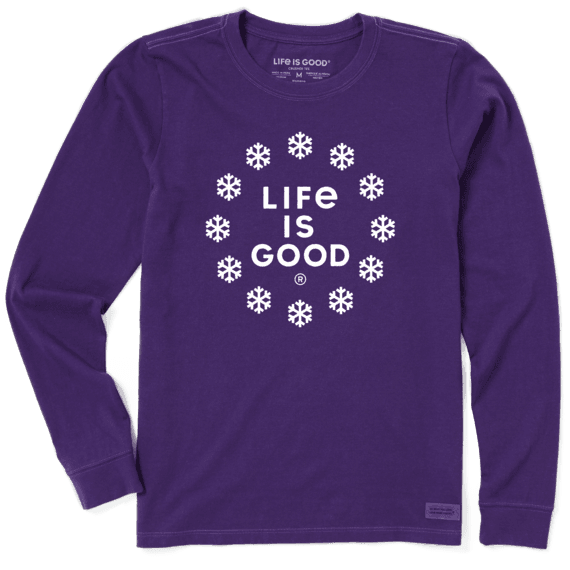 Women's Life is Snow Good Long Sleeve Crusher Tee