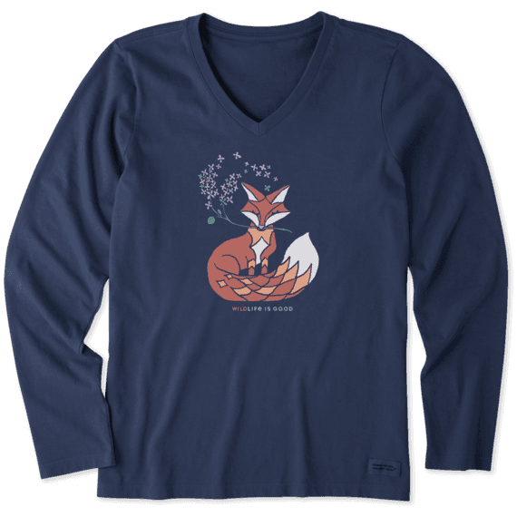 Women's Wild Fox Long Sleeve Crusher Vee
