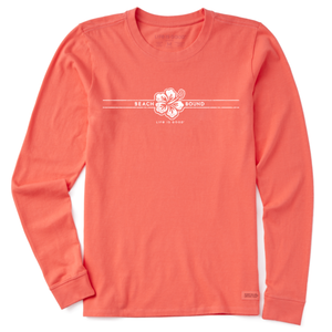 Women's Beach Bound LS Crusher Tee