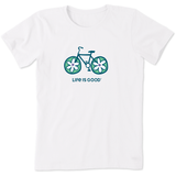 Women's Flower Bike Crusher Tee