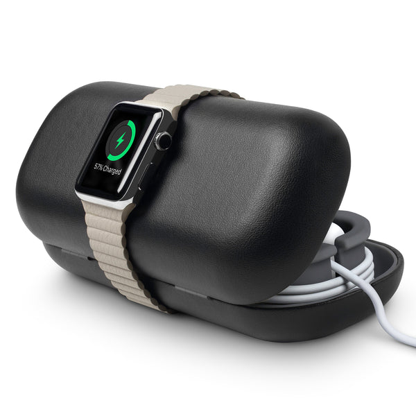 TimePorter (black) travel stand and case for Apple Watch