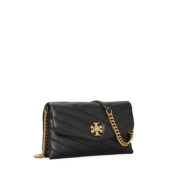 KIRA CHEVRON CHAIN WALLET - BLACK