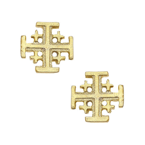 JERUSALEM CROSS STUD