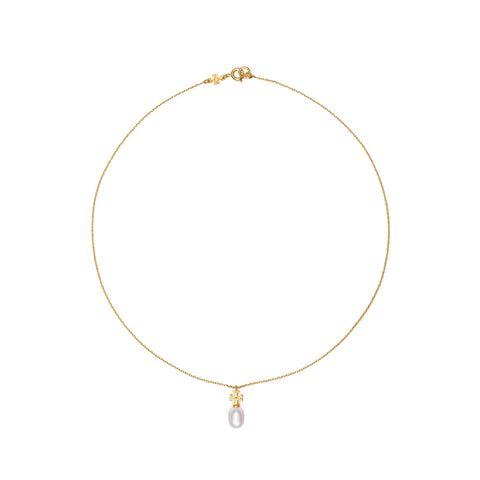 KIRA PEARL PENDANT NECKLACE - GOLD