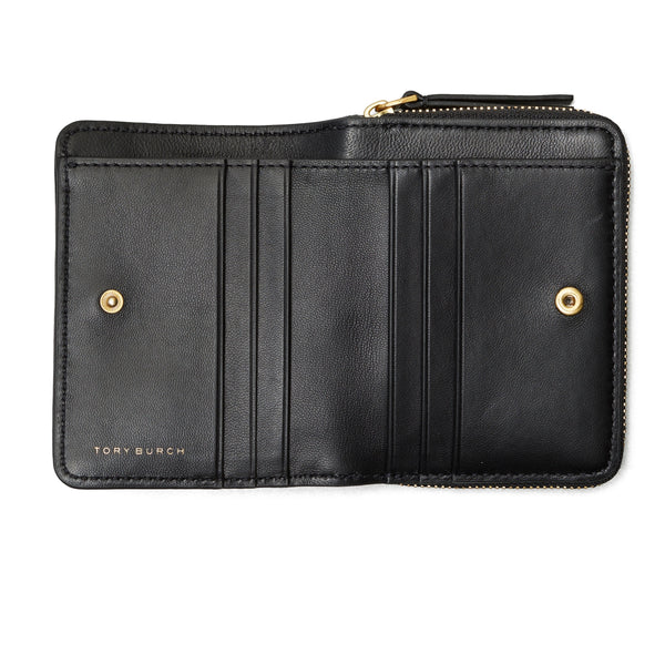 KIRA CHEVRON BI - FOLD WALLET - BLACK