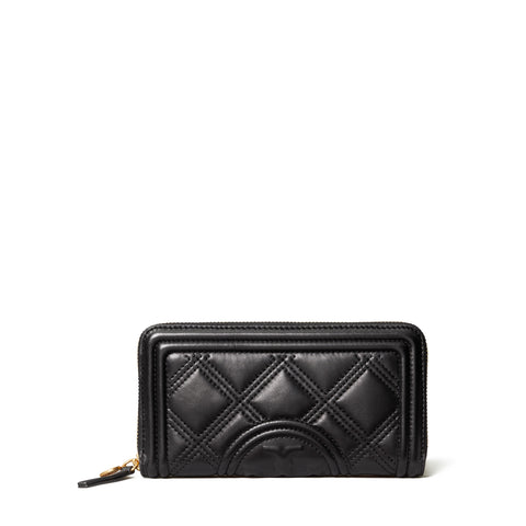 FLEMING SOFT ZIP CONTINENTAL WALLET -BLACK