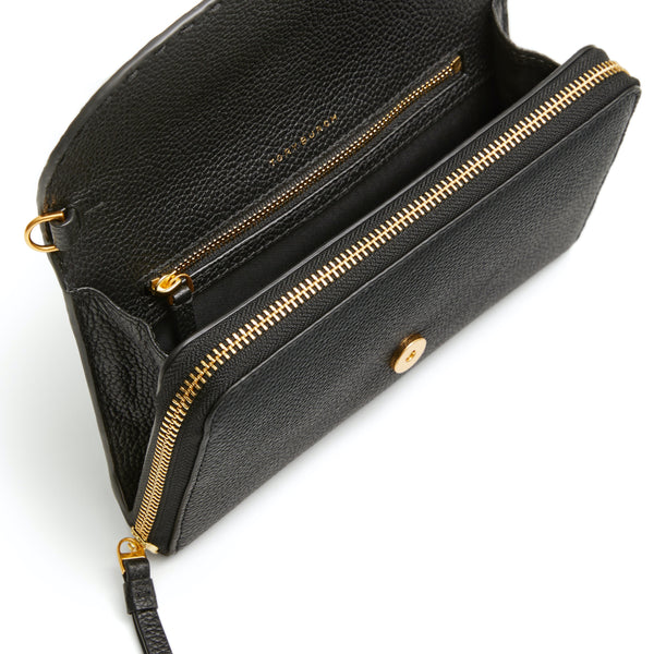 MCGRAW WALLET CROSSBODY - BLACK