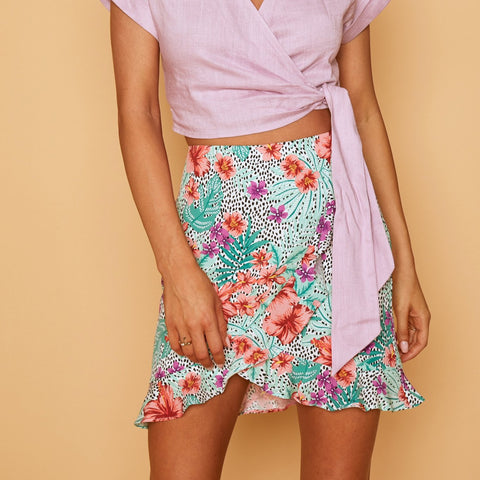 HIBISCUS MINI SKIRT