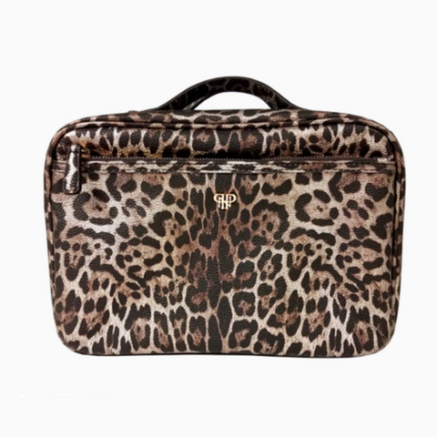 GETAWAY LIEA TOILETRY CASE - BRONZE LEOPARD